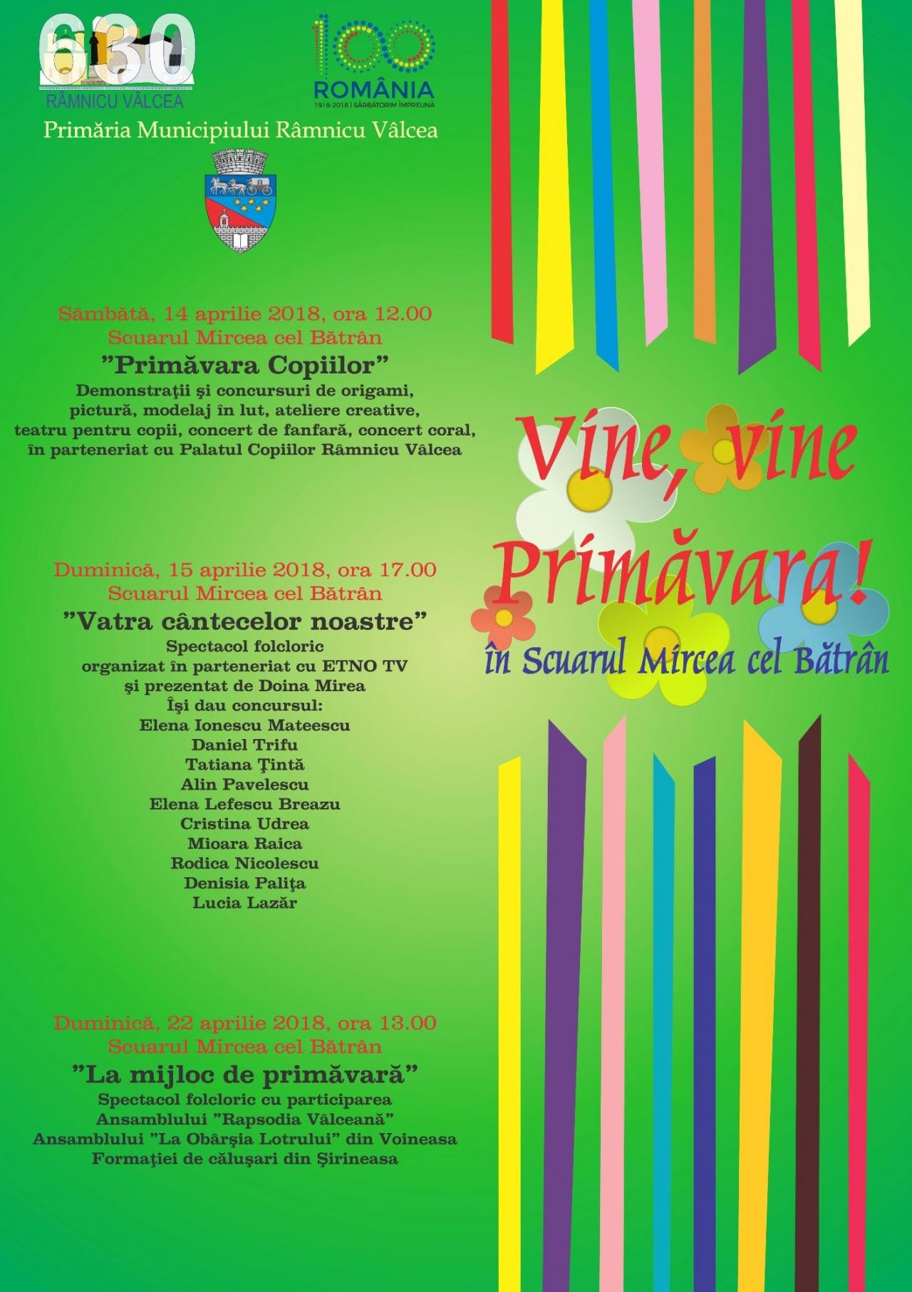 """""""Vine, vine Primăvara!"""" în Scuarul """"Mircea cel Bătrân"""" din Centrul Civic"""