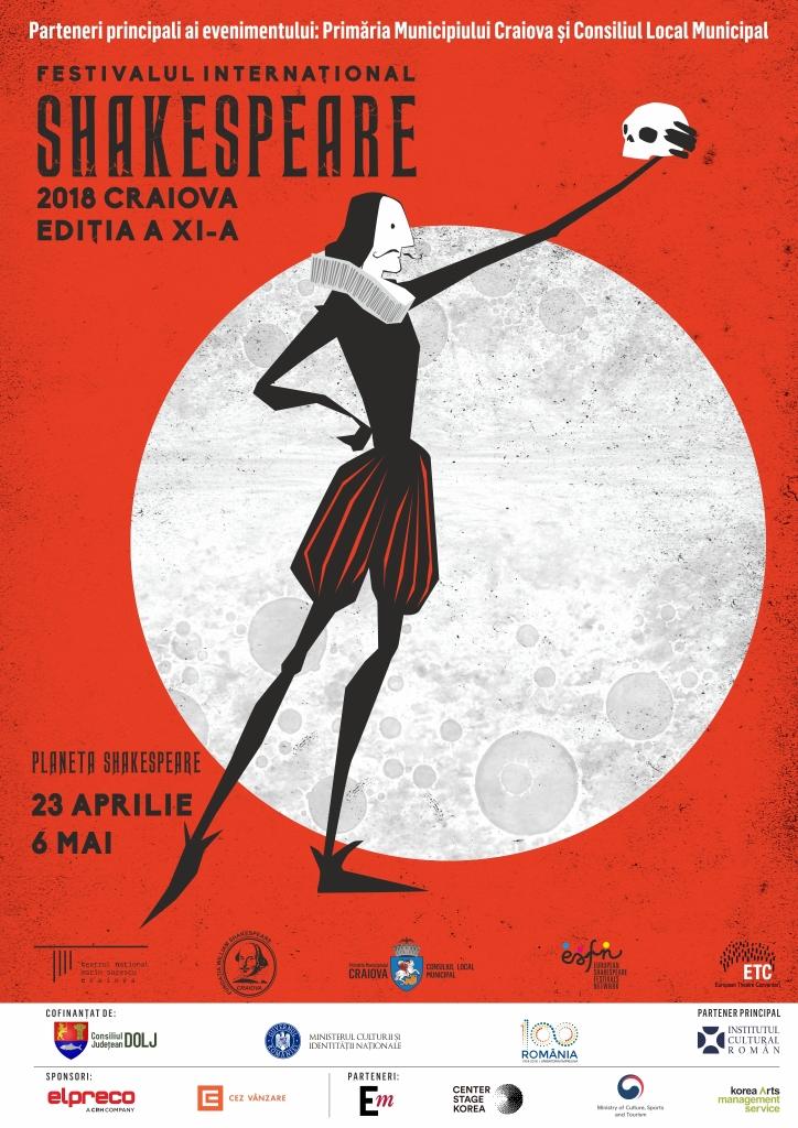 A XI-a ediție a Festivalului Internaţional Shakespeare începe mâine, la Craiova