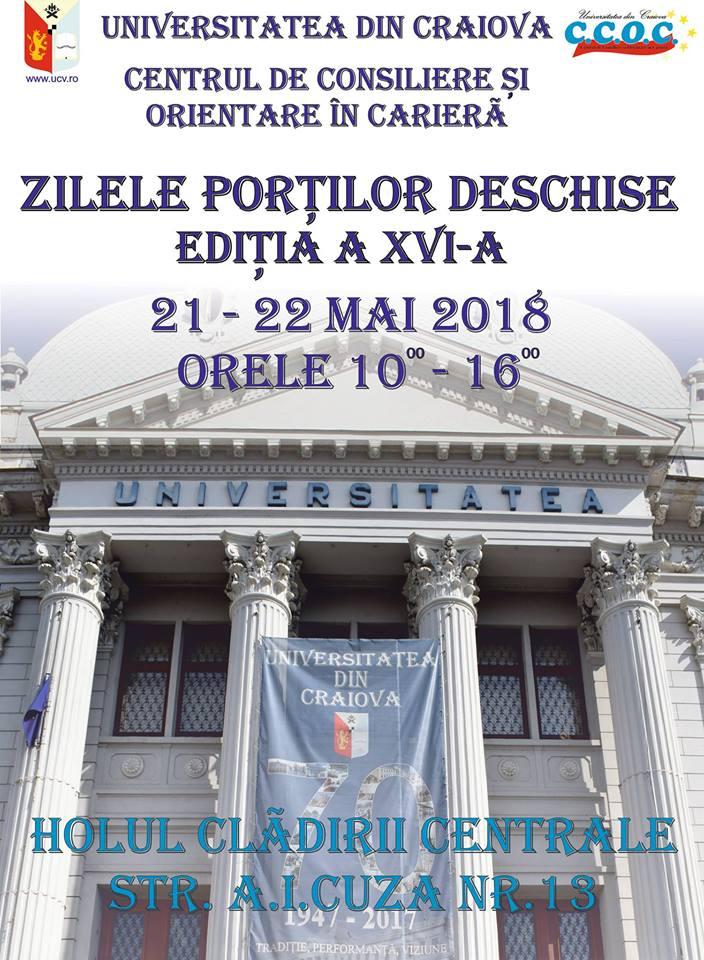 Zilele Porților Deschise la Universitatea din Craiova 2018