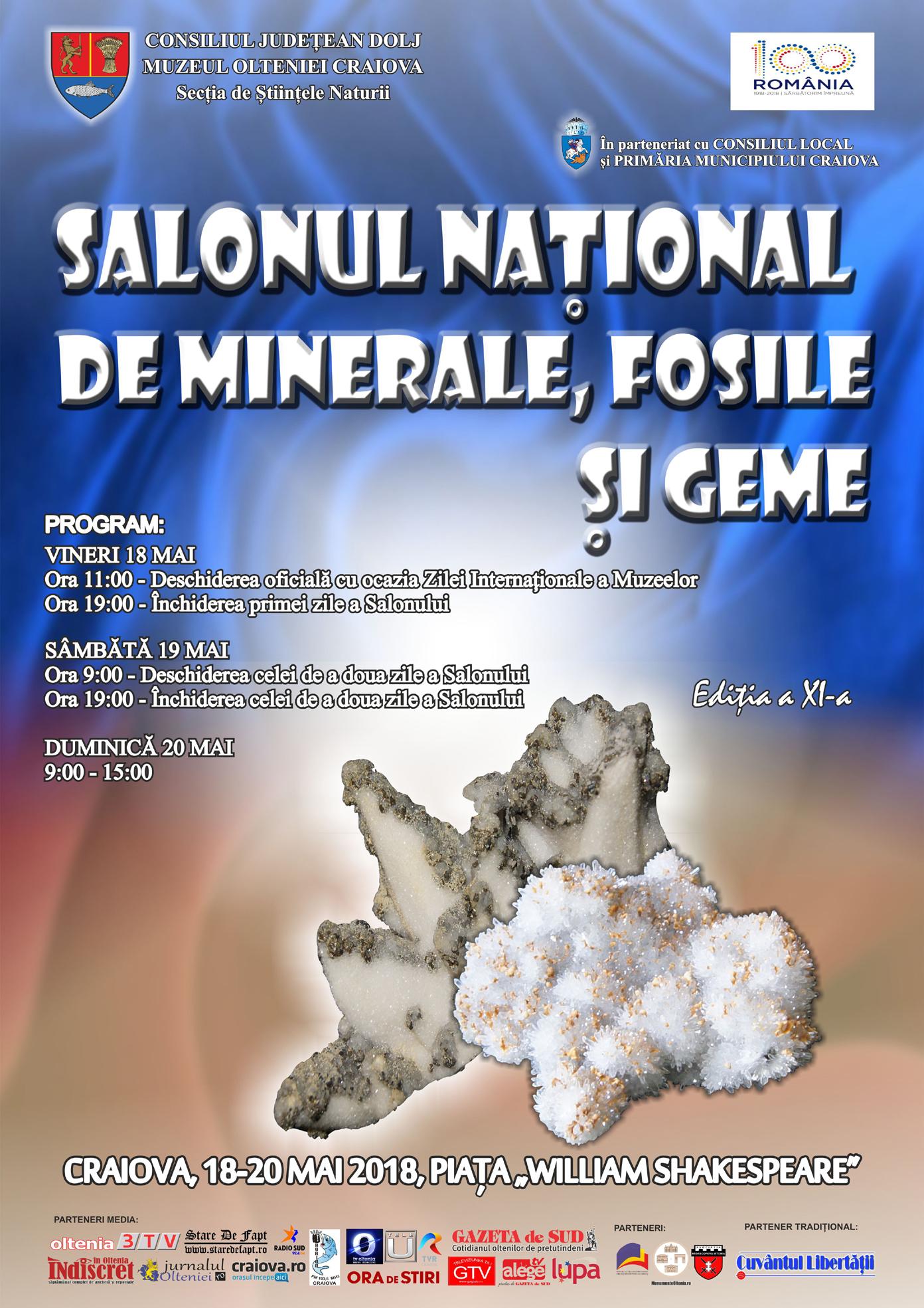 Craiova: Se deschide Salonul Naţional de Minerale, Fosile şi Geme