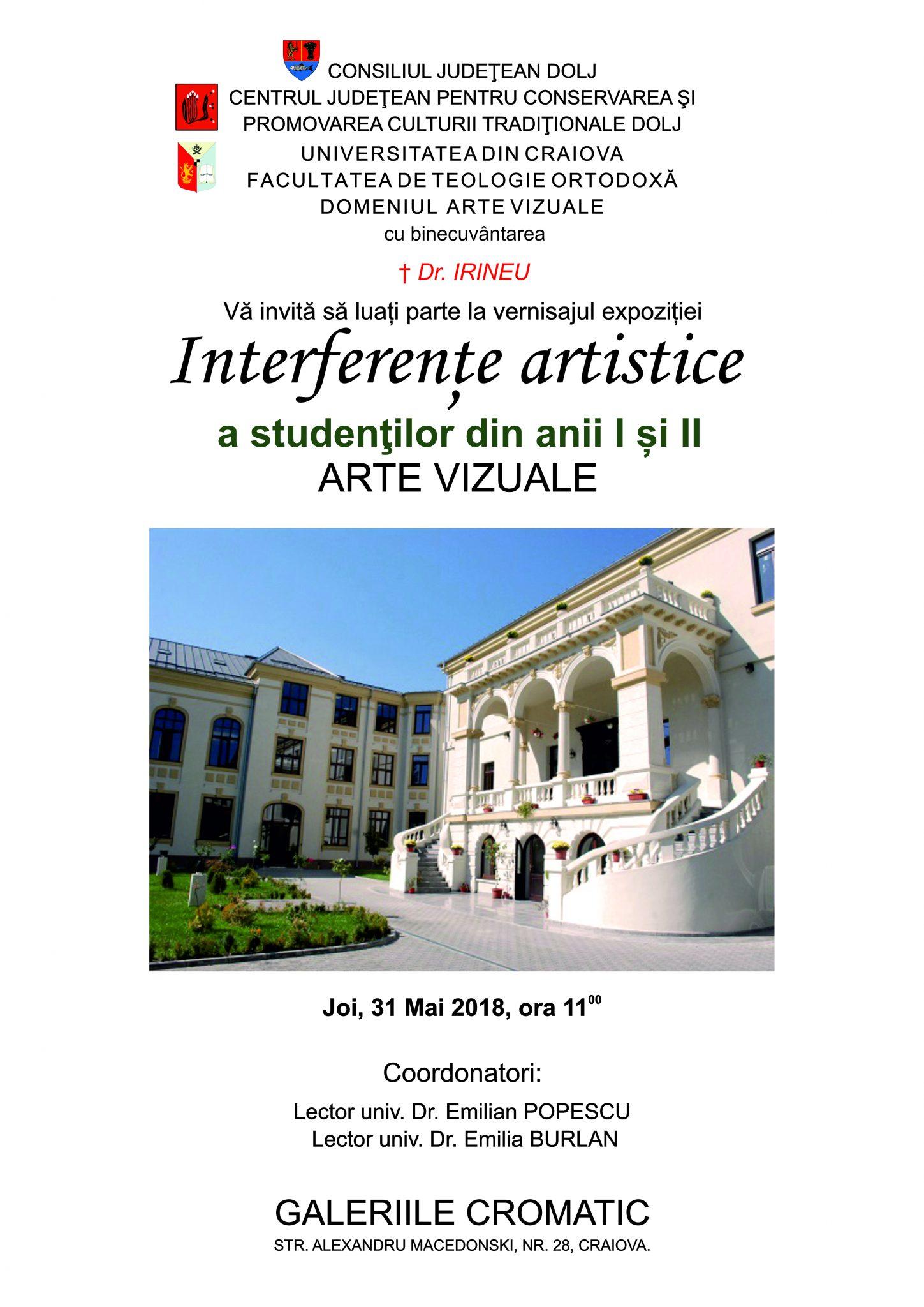 """Vernisaj """"Interferențe artistice"""" în Galeriile """"Cromatic"""""""