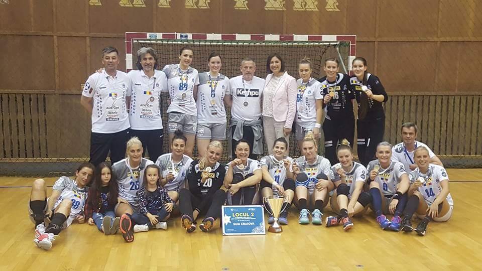 Încă o reușită pentru handbaliste: vicecampioane naționale!