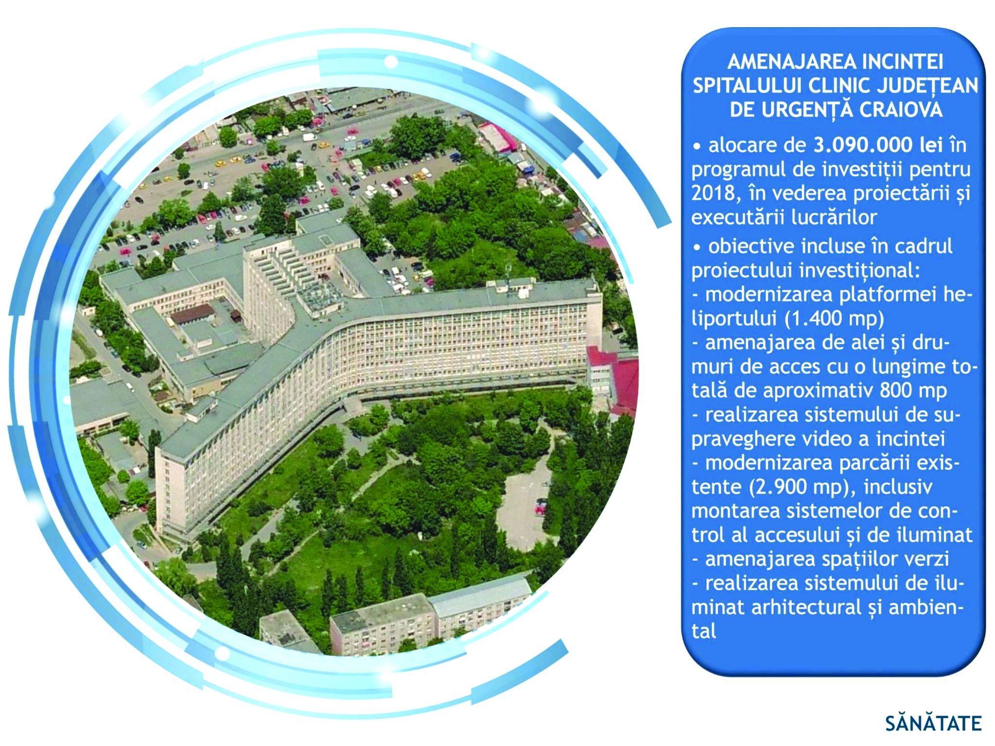 CJ Dolj – Investiții în infrastructura medicală