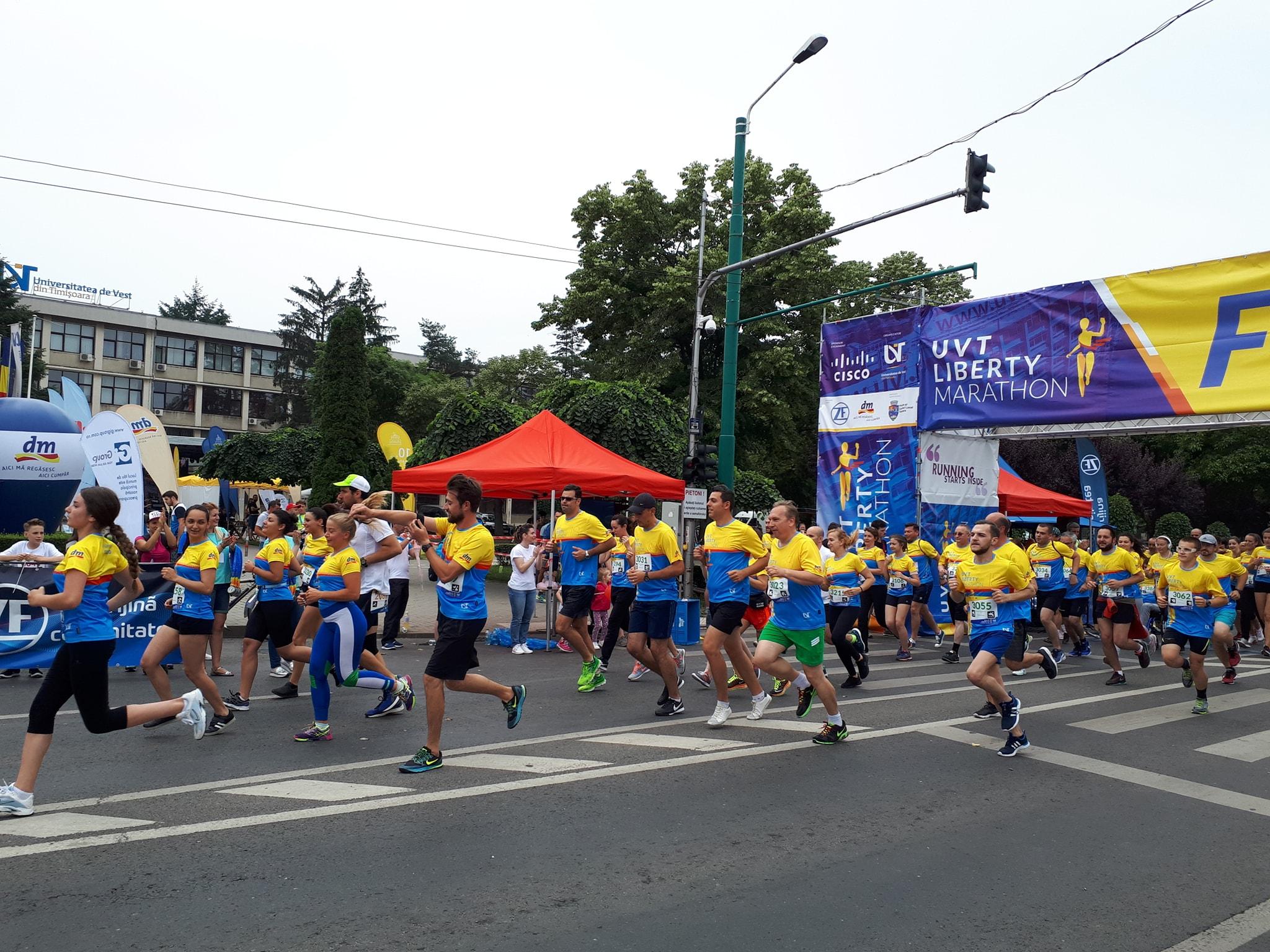 S-a încheiat prima ediție a UVT Liberty Marathon. Participanți din 10 țări