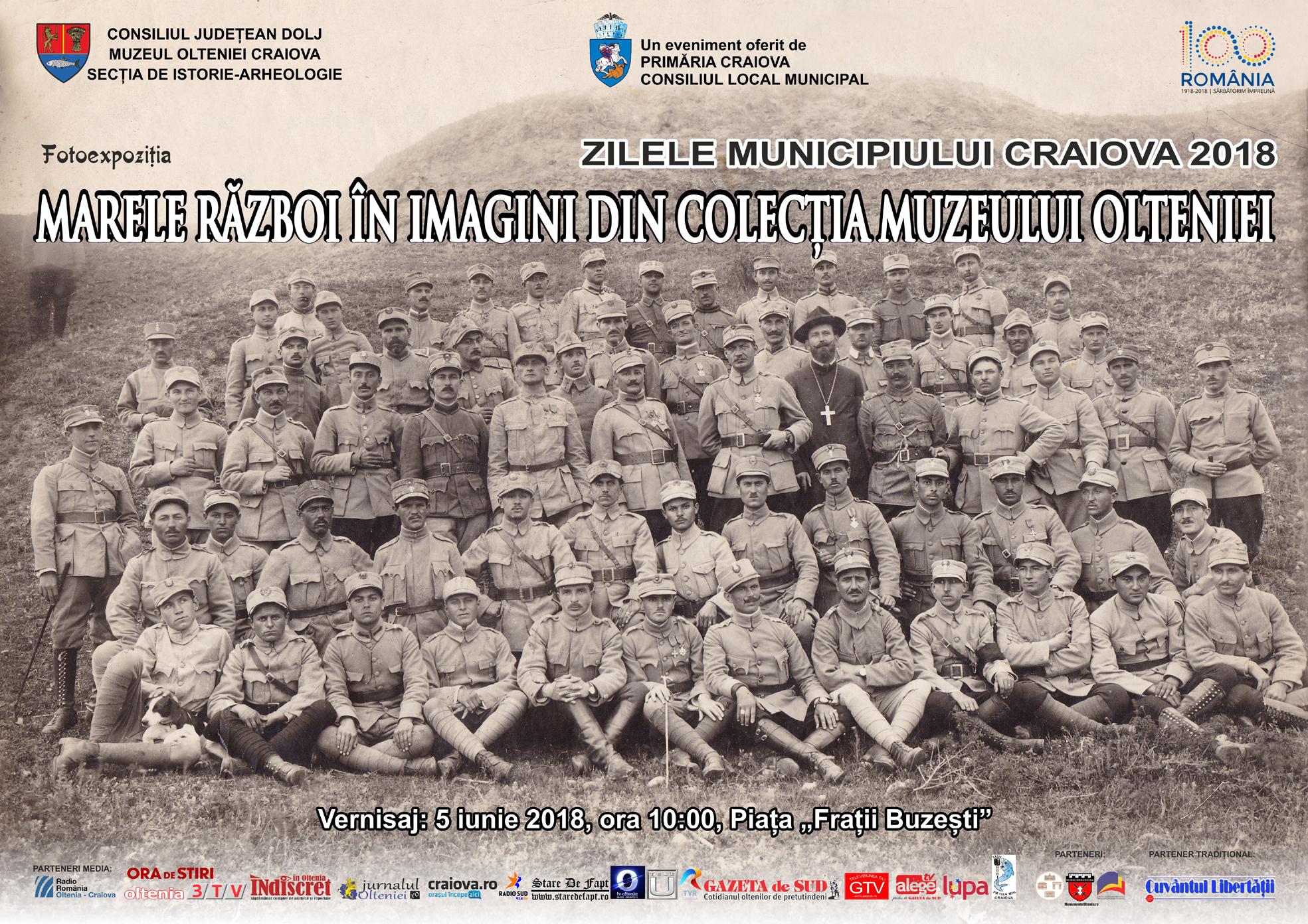 Expoziţia de fotografie Marele Război în Imagini, din colecția Muzeului Olteniei
