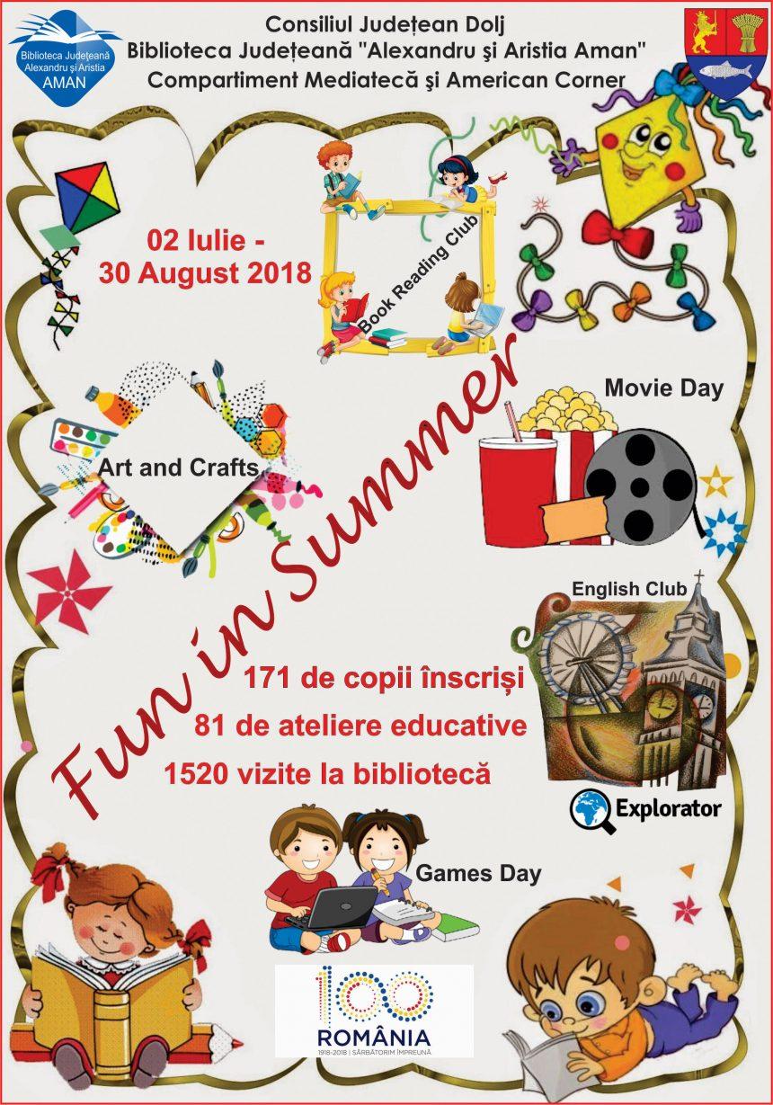 """Biblioteca Județeană """"Alexandru și Aristia Aman"""": Fun in Summer- bilanț provizoriu"""