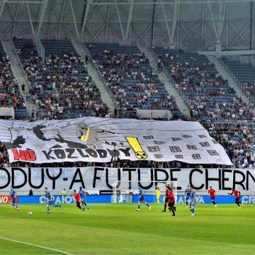 "Mesaje anti Kozlodui afișate pe stadionul ""Oblemenco"""