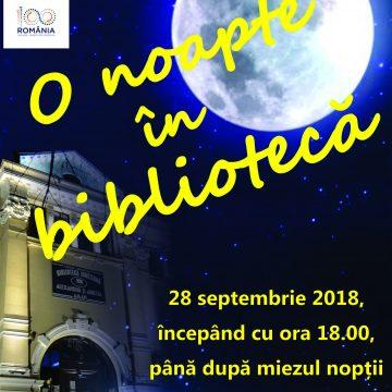 """Craiovenii, invitaţi să petreacă """"O noapte în bibliotecă"""""""