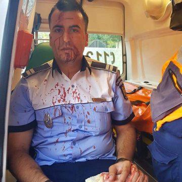 Poliţist de la Rutieră la spital, după ce a fost lovit de un şofer recalcitrant