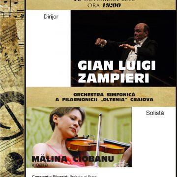 Celebrul Concert în Re major de Brahms cu un talent incontestabil, violonista Mălina Ciobanu