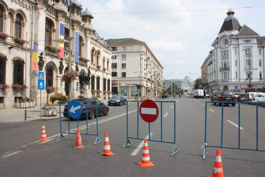 Restricţii de trafic în centrul Craiovei