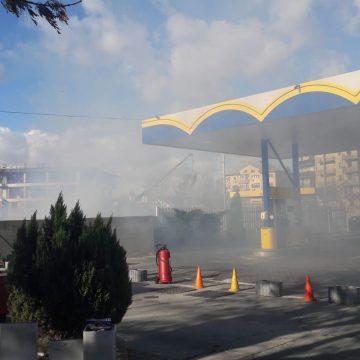 Video/ Incendiu între Polivalentă şi staţia Peco de la Ciupercă