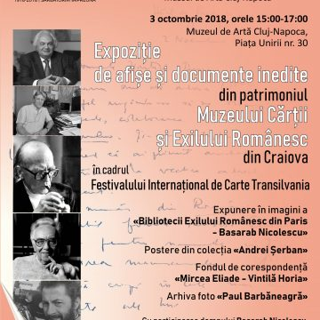 Biblioteca Aman: Opere și documente provenite din patrimoniul Muzeului Cărții și Exilului Românesc, la Festivalul Internațional de Carte Transilvania