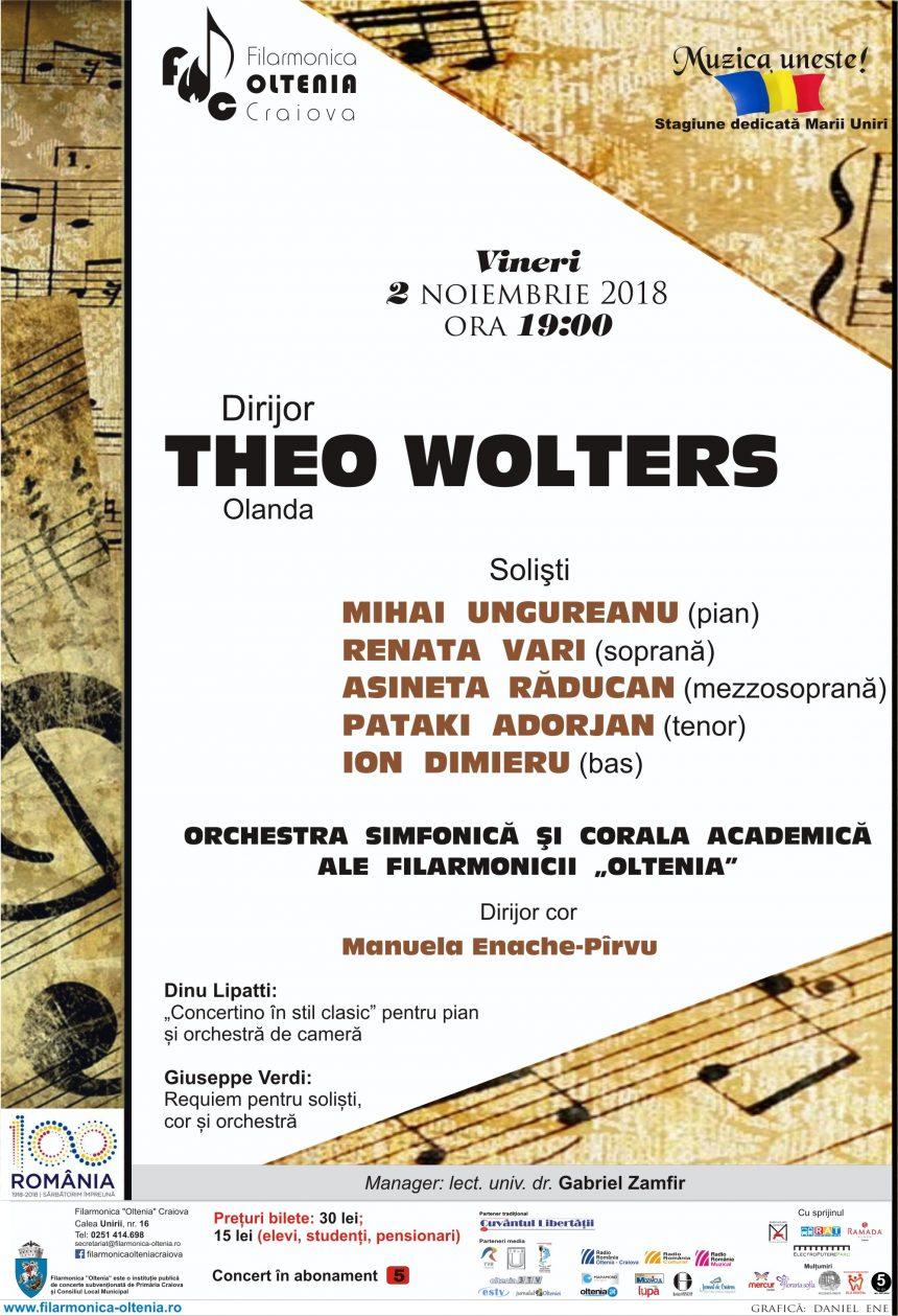 Requiem de Verdi, cu maestrul Theo Wolters la pupitrul dirijoral