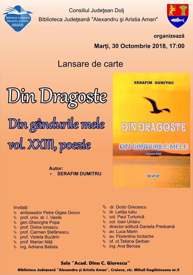 Serafim Dumitru, fost colonel de armată, a lansat volum nou de poezie