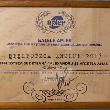 """""""Biblioteca anului 2017"""". Biblioteca Aman laureată a Galei APLER"""
