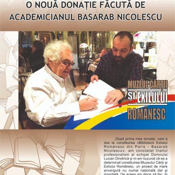 """Biblioteca Județeană """"Alexandru și Aristia Aman"""". O nouă donație făcută de academicianul Basarab Nicolescu"""