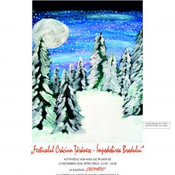 """Craiova. Festivalul Crăciun Ţărănesc – Împodobirea Bradului, în Galeriile """"Cromatic"""""""
