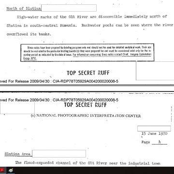 Slatina, în rapoartele agenţiei de informaţii americane CIA