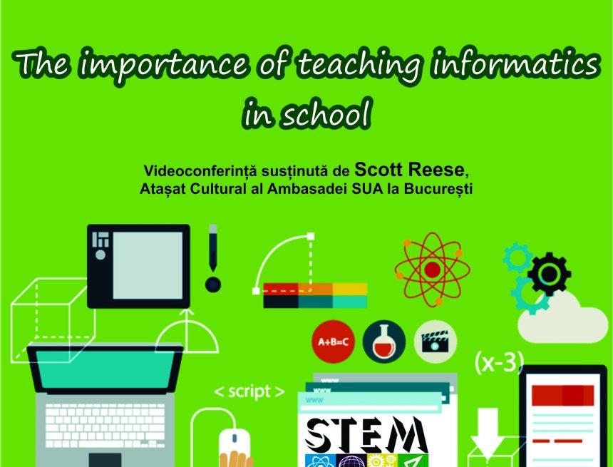 """Craiova. Videoconferința """"Importanța predării informaticii în scoală"""", la Aman"""