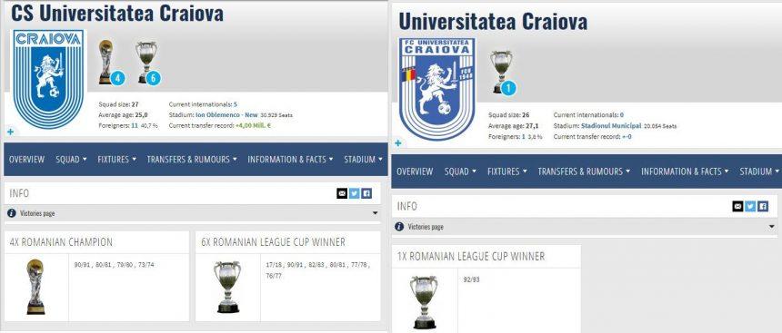 6 Cupe, 4 campionate, ale noastre-s toate! Cupa din 93 trece la FCU!