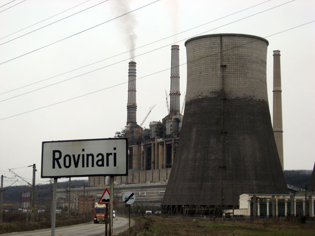 Gorj: Incendiu la Termocentrala Rovinari