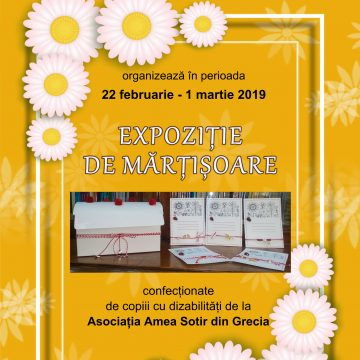 Craiova. Expoziție cu zeci de mărțișoare, primite în dar de la Salonic