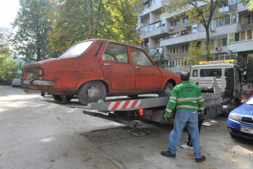 Mașinile abandonate din Târgu Jiu, vândute de primărie