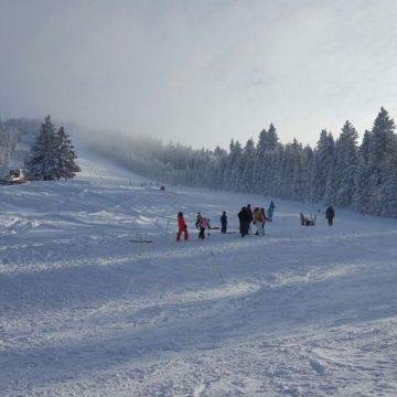 Cod galben de vânt şi ninsoare în nordul județului Vâlcea