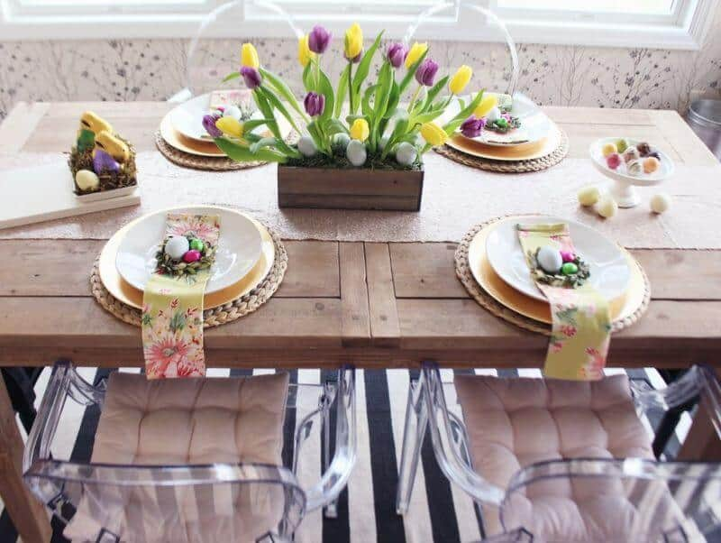 Cum se aranjează corect masa festivă de Paşte