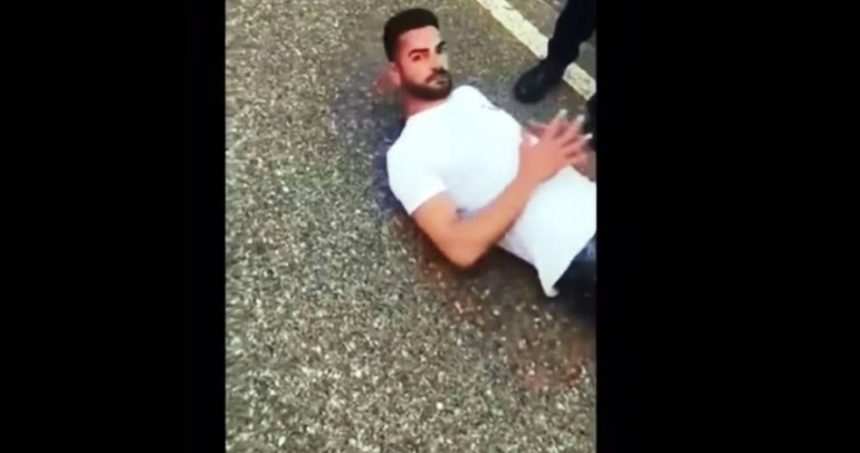 VIDEO/Un fost fotbalist din Slatina a leşinat când a suflat în etilotest