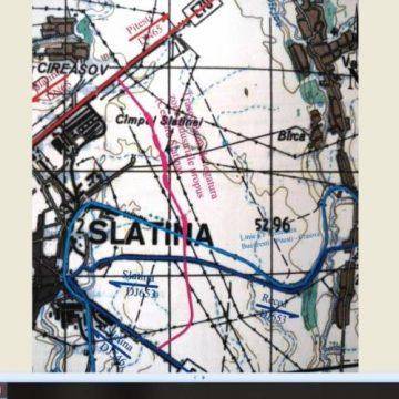 Traseul ocolitoarei dintre zonele industriale ale Slatinei