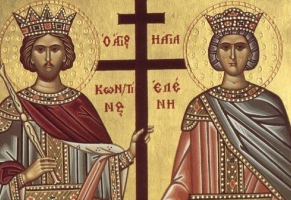 Credincioşii ortodocşi îi serbează pe Sfinţii Împăraţi Constantin şi Elena