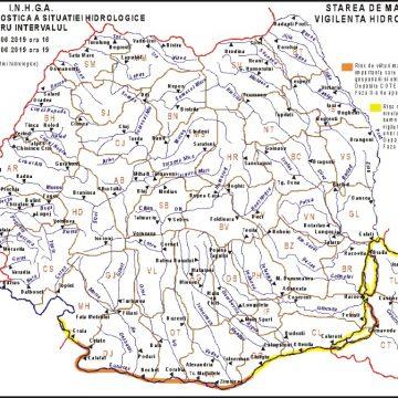 """ABA """"Jiu"""": Dunărea sub Cod Galben şi Portocaliu până la jumatatea lunii"""