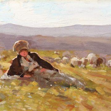 """""""Ciobănaş cu turma de oi"""" de Nicolae Grigorescu, cea mai bine vândută lucrare la licitaţia de vară"""