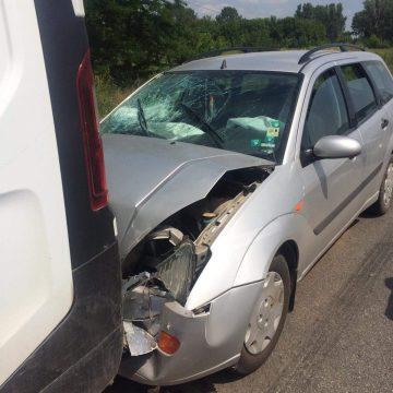 Foto/La spital, după un accident în lanț