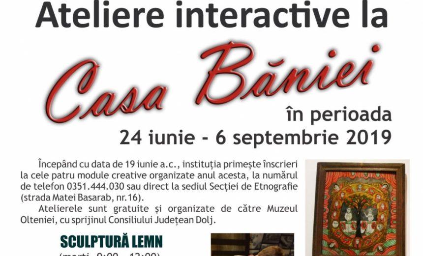 Vacanță cu ateliere creative la Casa Băniei!