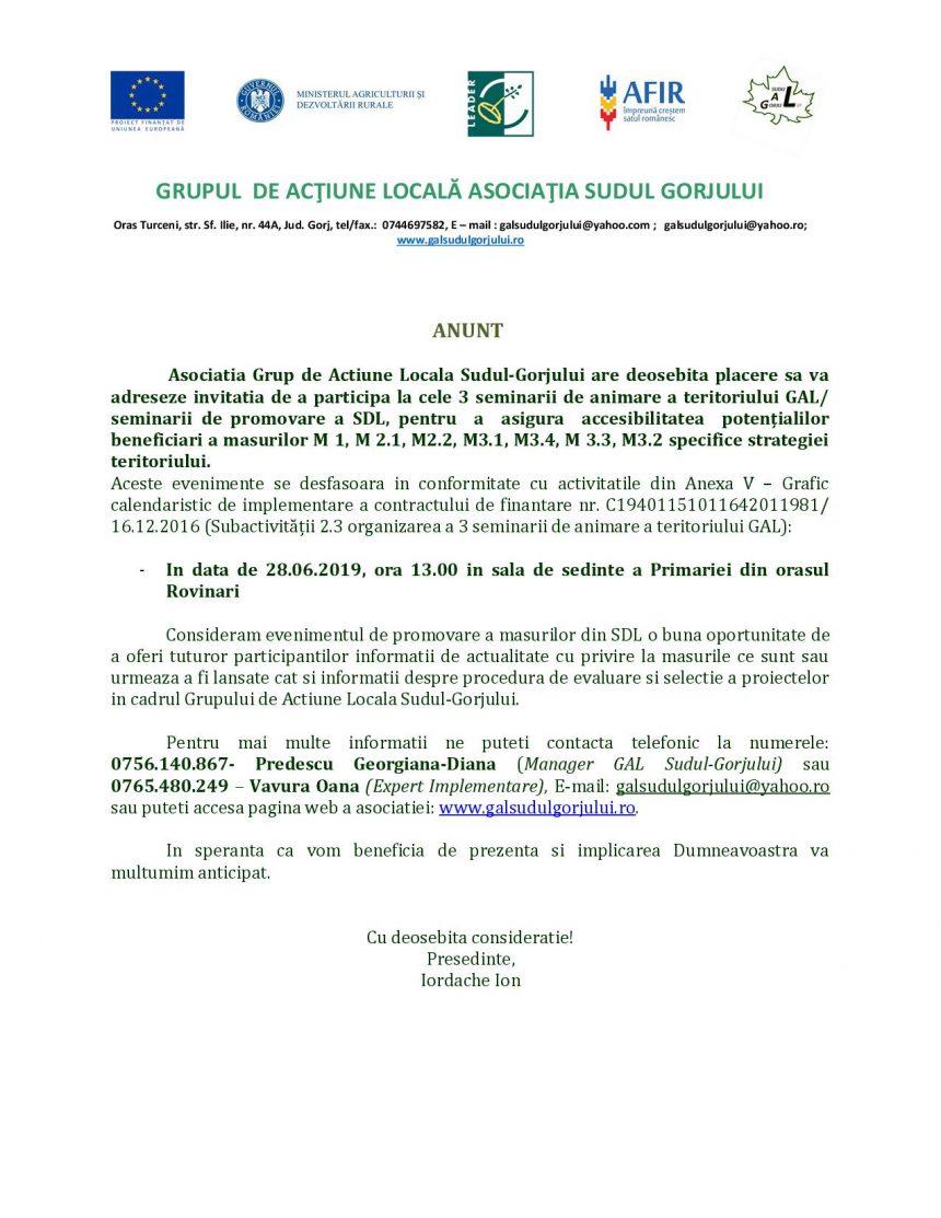 Asociatia Grup de Actiune Locala Sudul-Gorjului – intalnire Rovinari