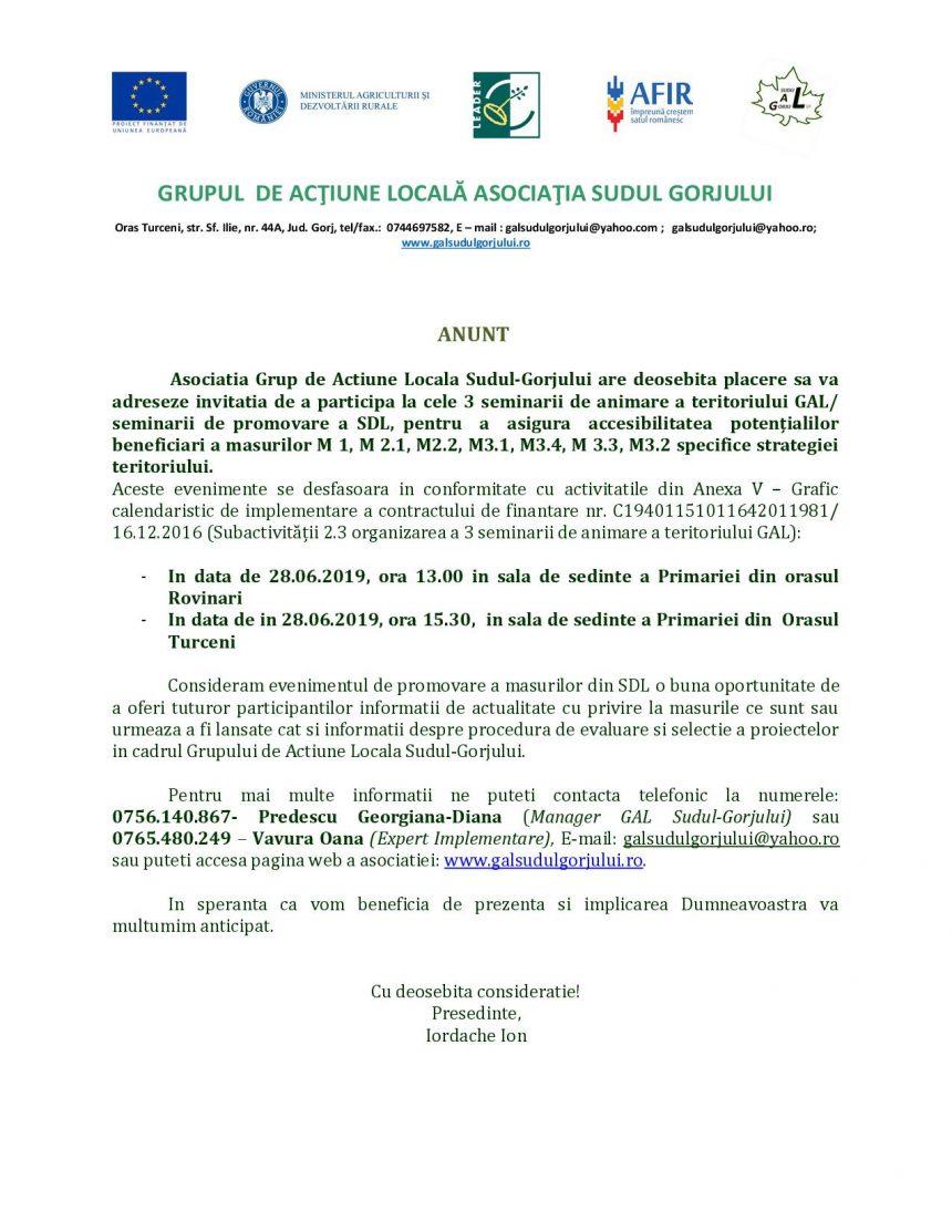Asociatia Grup de Actiune Locala Sudul-Gorjului – intalnire Turceni