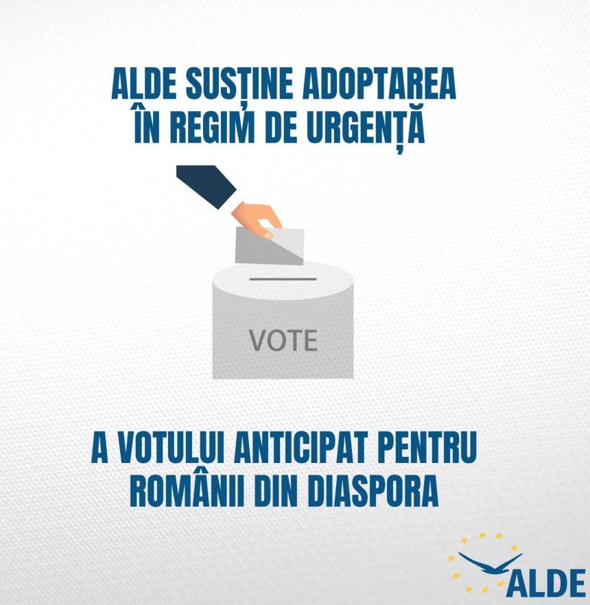 ALDE Dolj: Vot anticipat pe durata a trei zile în diaspora