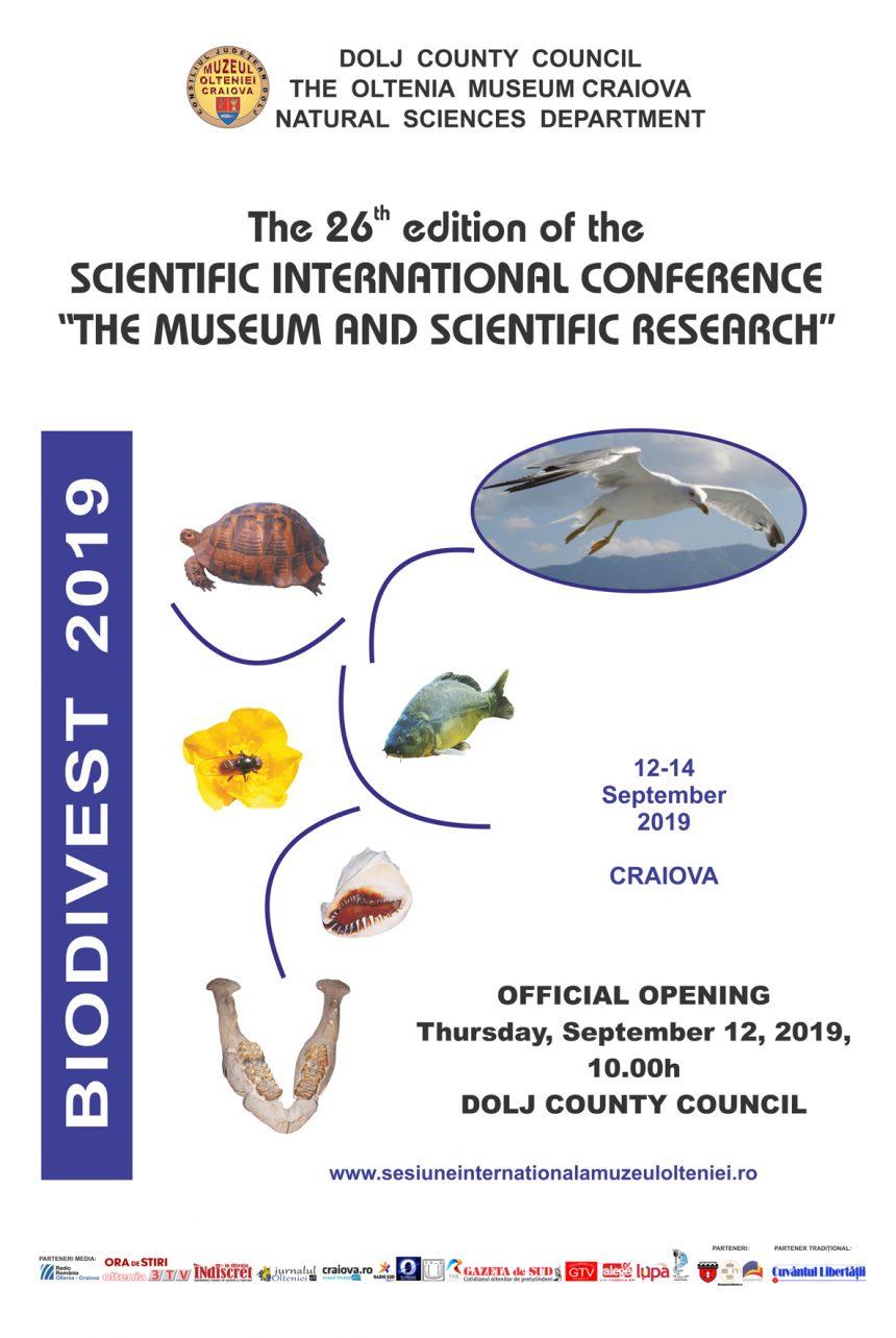 Conferinţa Internațională Muzeul și Cercetarea Ştiinţifică Ediția a XXVI-a, la Muzeul Olteniei