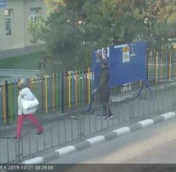 Vâlcean, surprins de camerele de luat vederi în timp ce rupe un afiş electoral cu Viorica Dăncilă