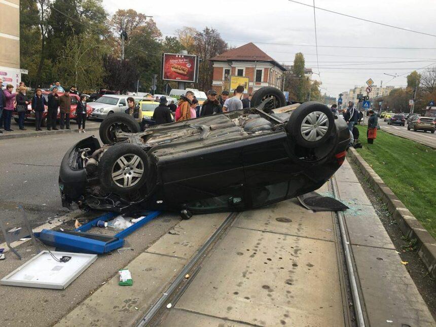 Grav accident pe Calea Bucureşti