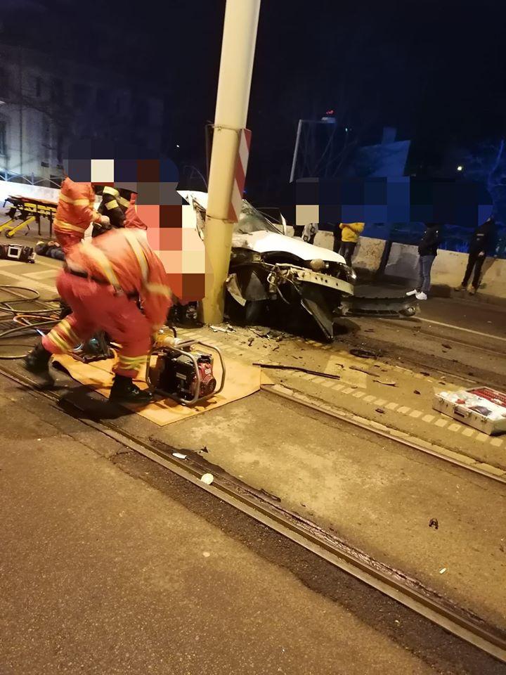Accident pe pasajul suprateran