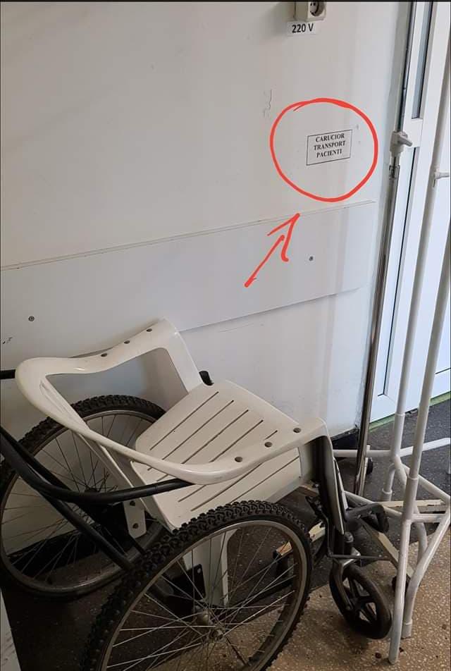 Căruciorul de terasă din Spitalul Judeţean
