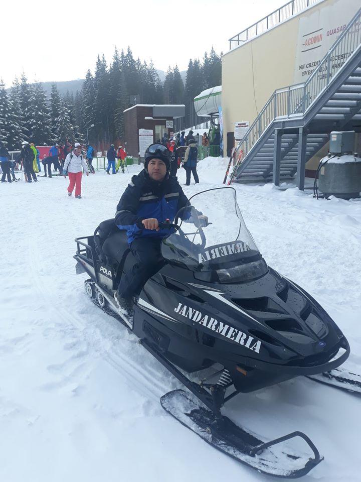 Jandarmii vâlceni și-au întărit forțele cu un snowmobil nou