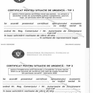 Certificatele de Situație de Urgență (CSU) – noi prevederi pentru sprijinirea IMM-urilor pe perioada stării de urgență