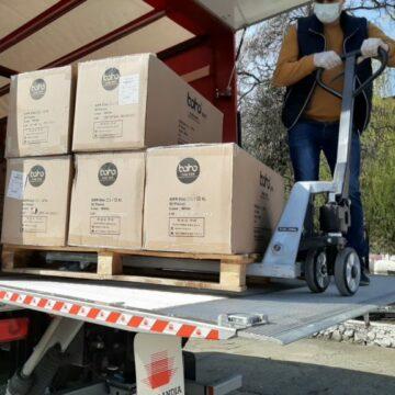 Al doilea transport cu echipamente de protecție a ajuns în Mehedinți