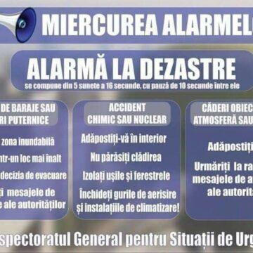 Au sunat alarmele în județul Vâlcea: IGSU va desfășura lunar astfel de exerciții