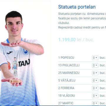 Mihai Rotaru vinde statuete cu jucătorii la 1.190 lei bucata!
